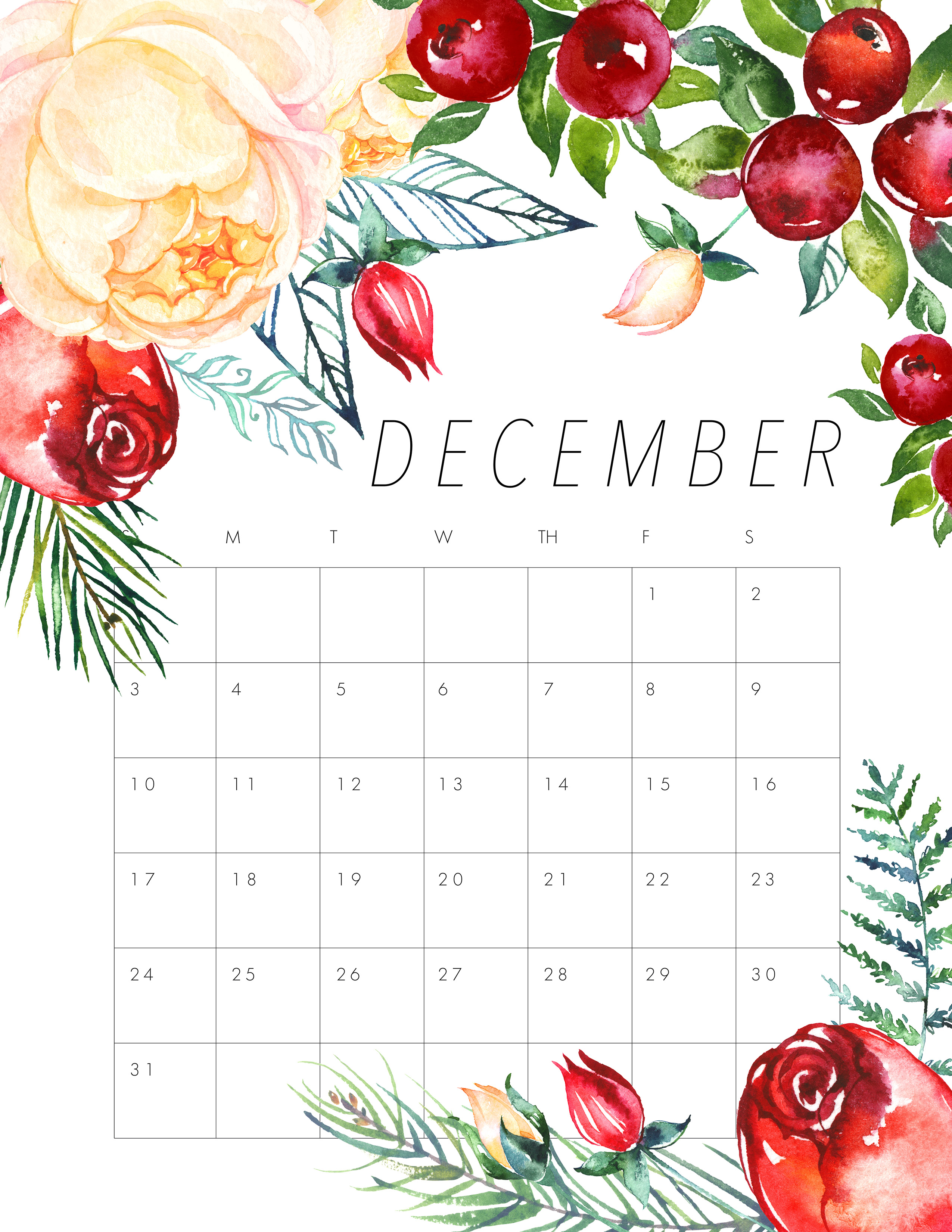 Calendar A3 October December | Printable Calendars 2017