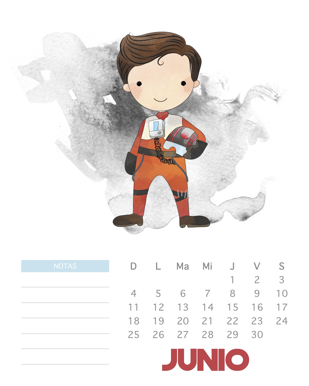 Free Printable 2017 Watercolor Star Wars Calendar - The ...