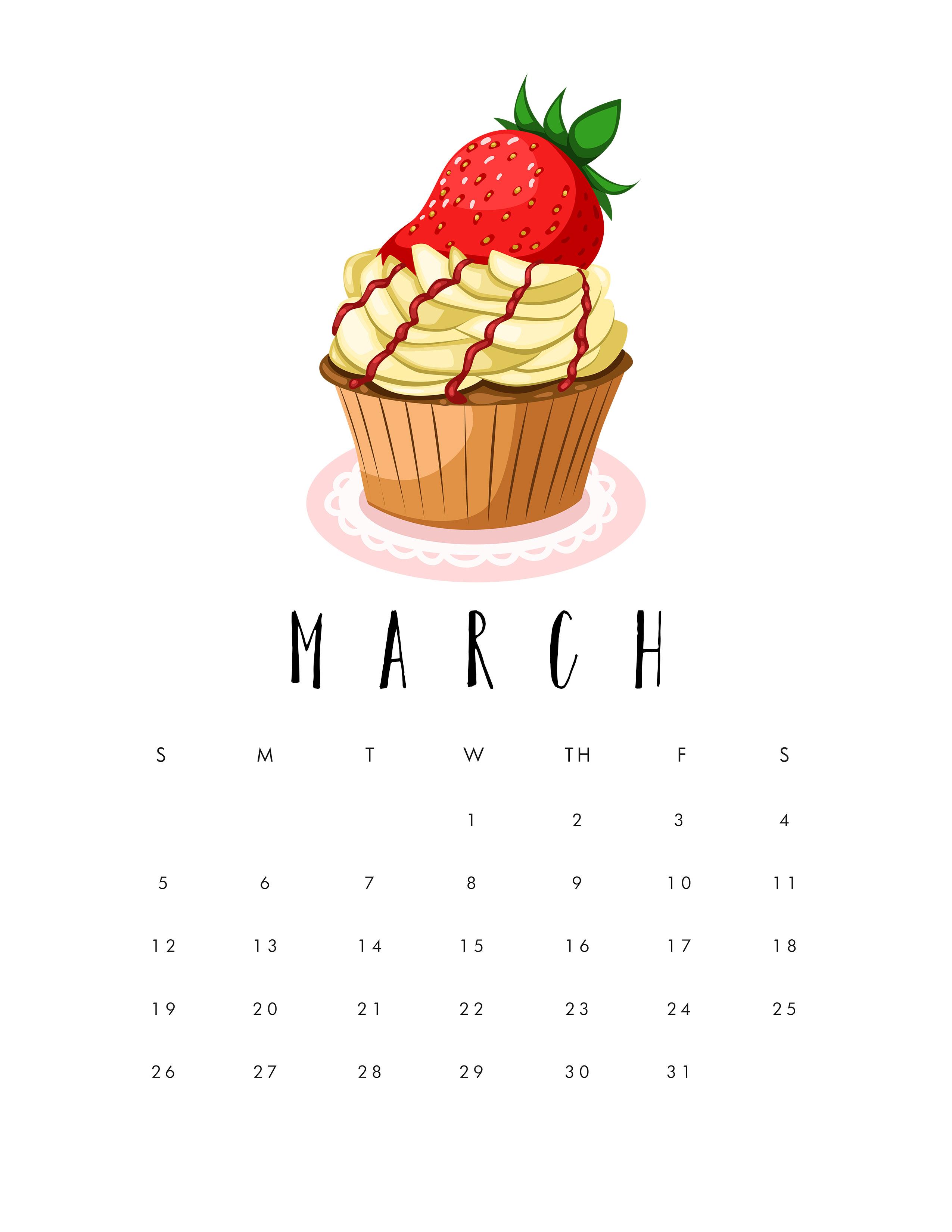 March 2017 Popsugar Must Have Box Review: Free Printable 2017 Cupcake Calendar
