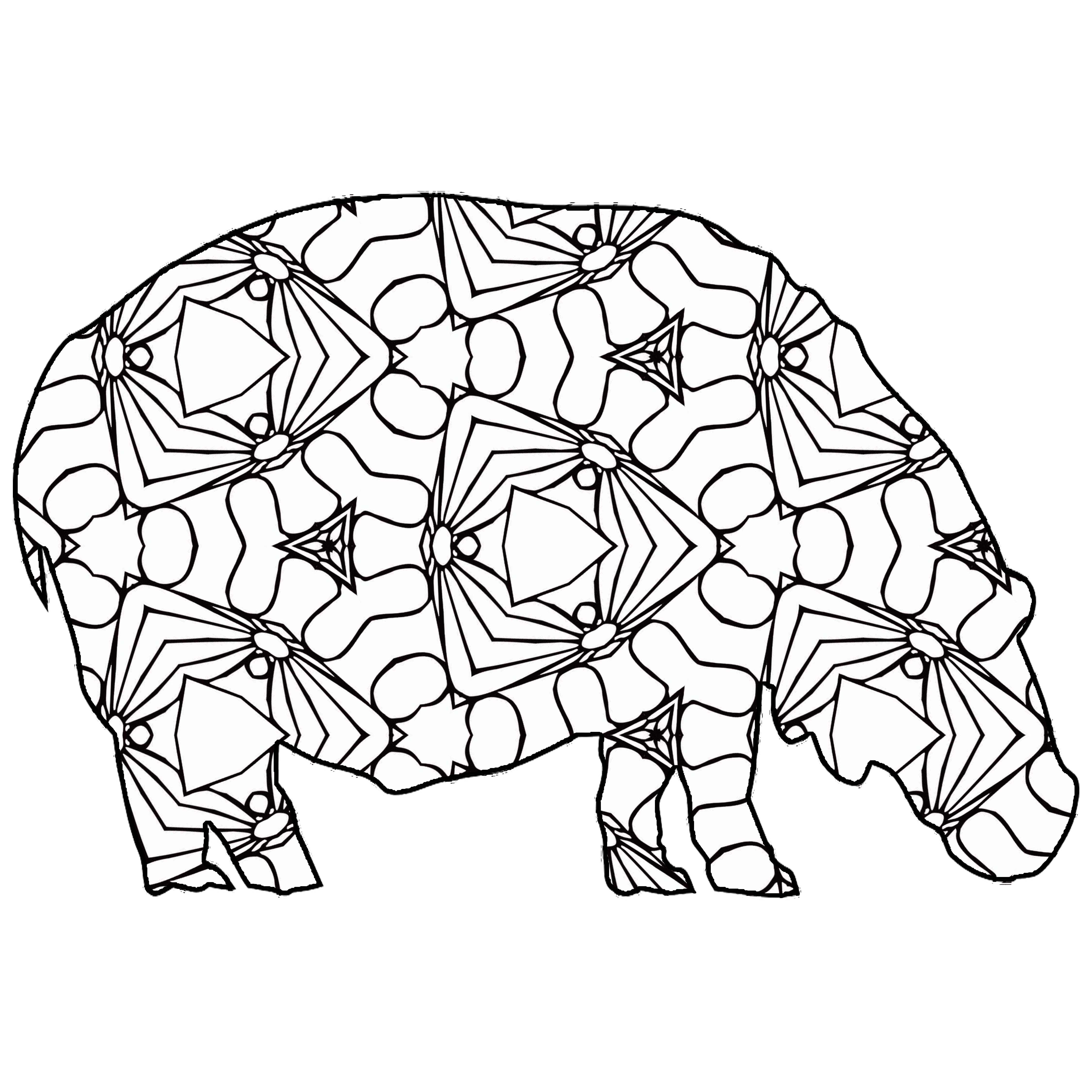 30 Free Printable Geometric Animal