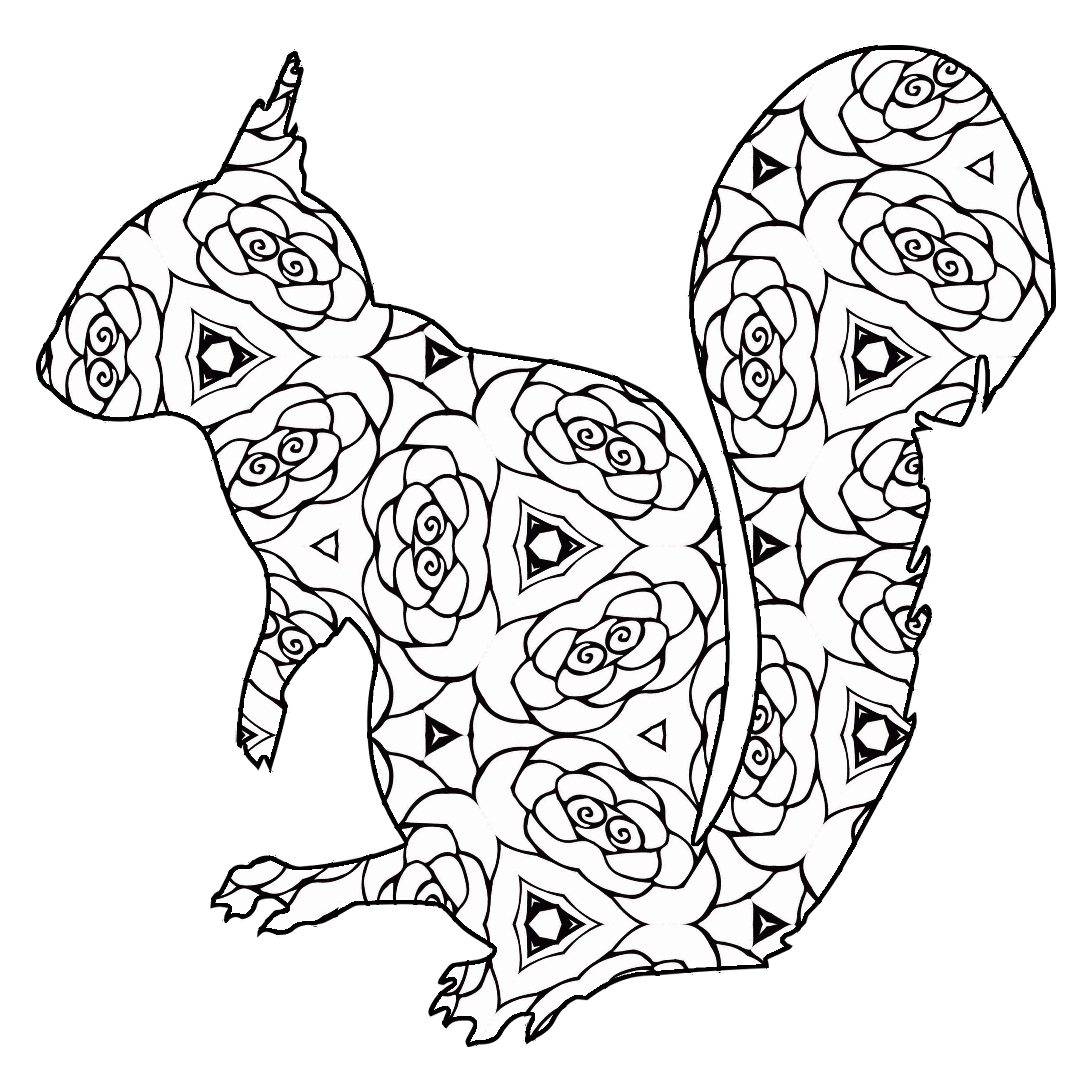 30 Free Printable Geometric Animal Coloring Pages | The ...