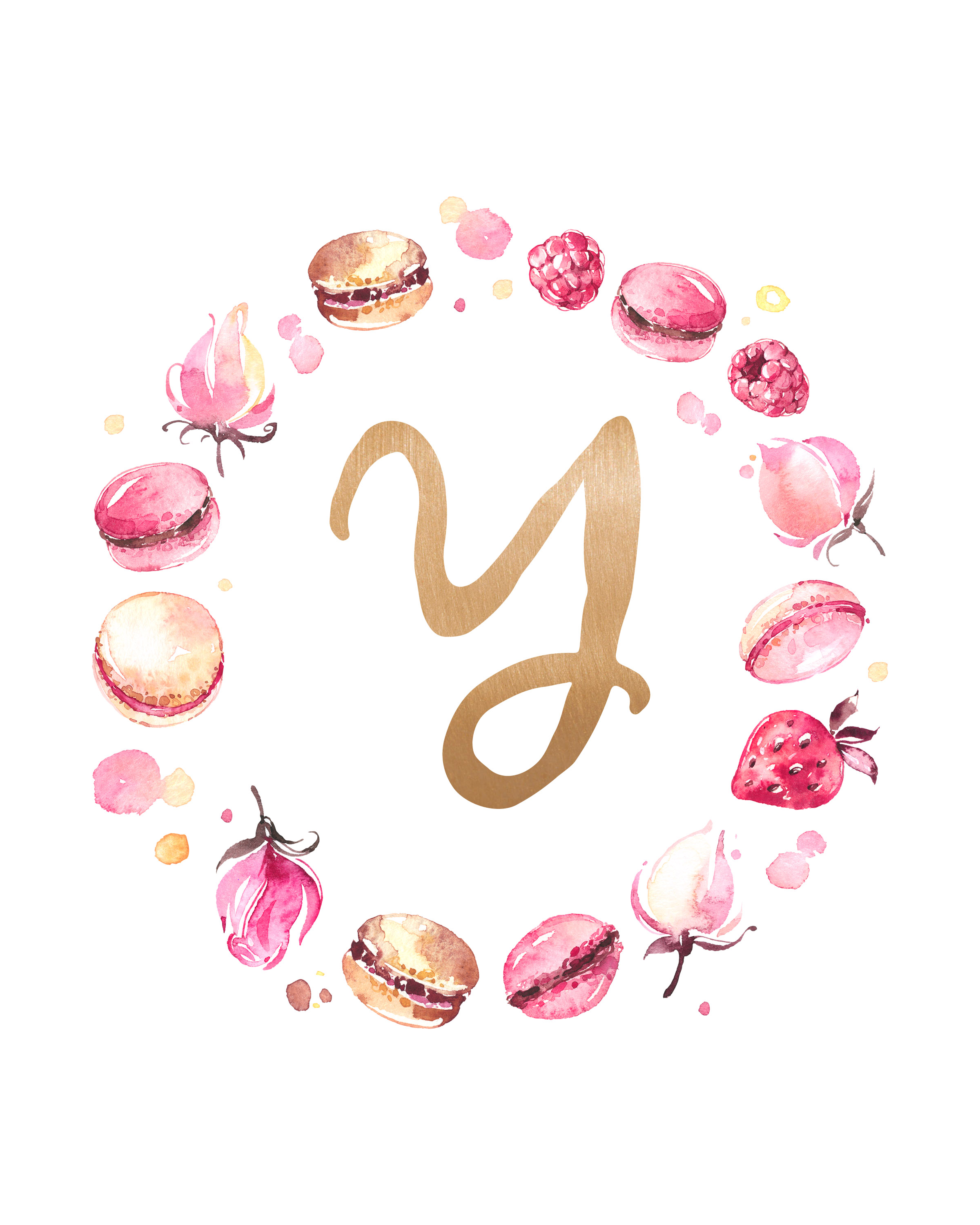 Free Printable Macaron Monogram Collection  The Cottage Market