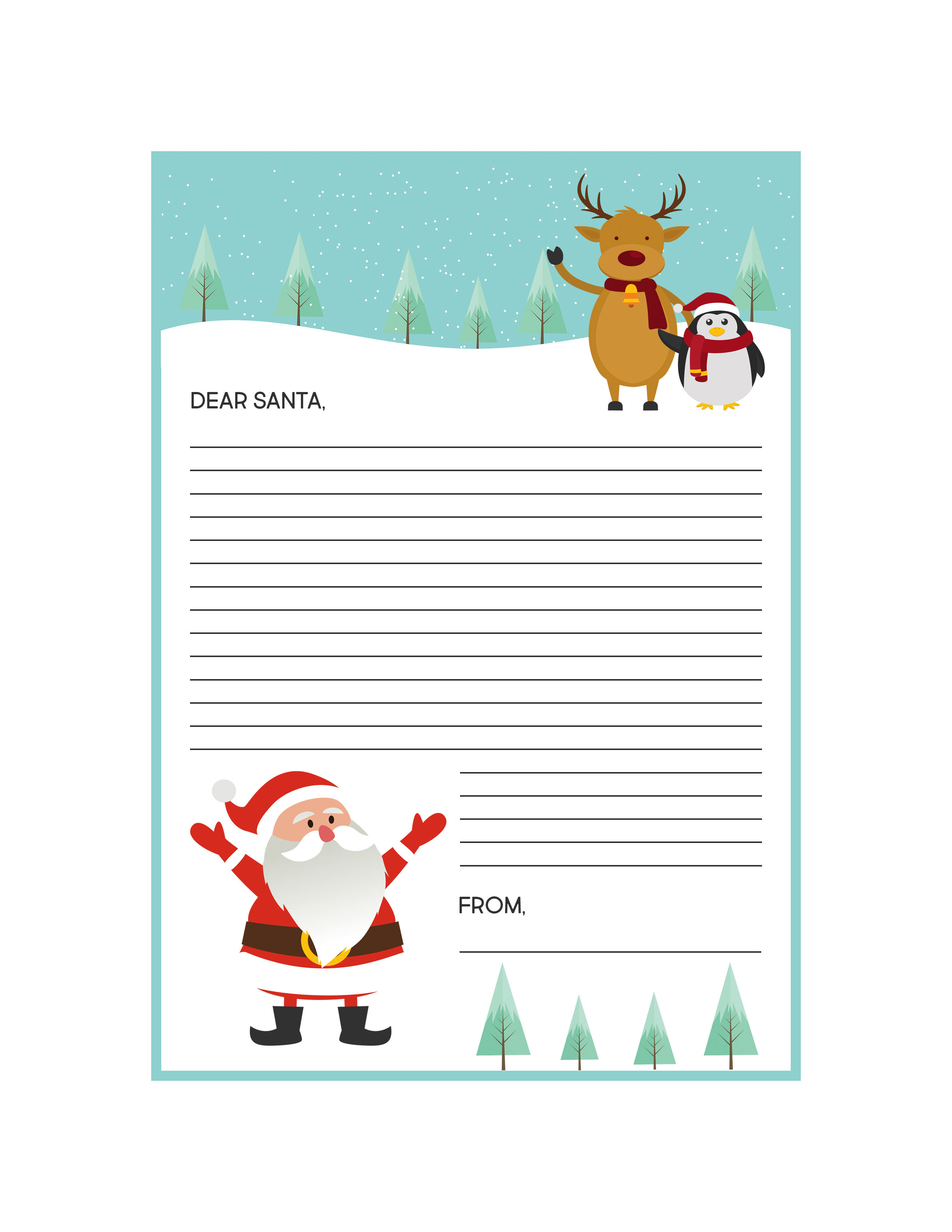 It's just a graphic of Sassy Free Printable Santa Letters