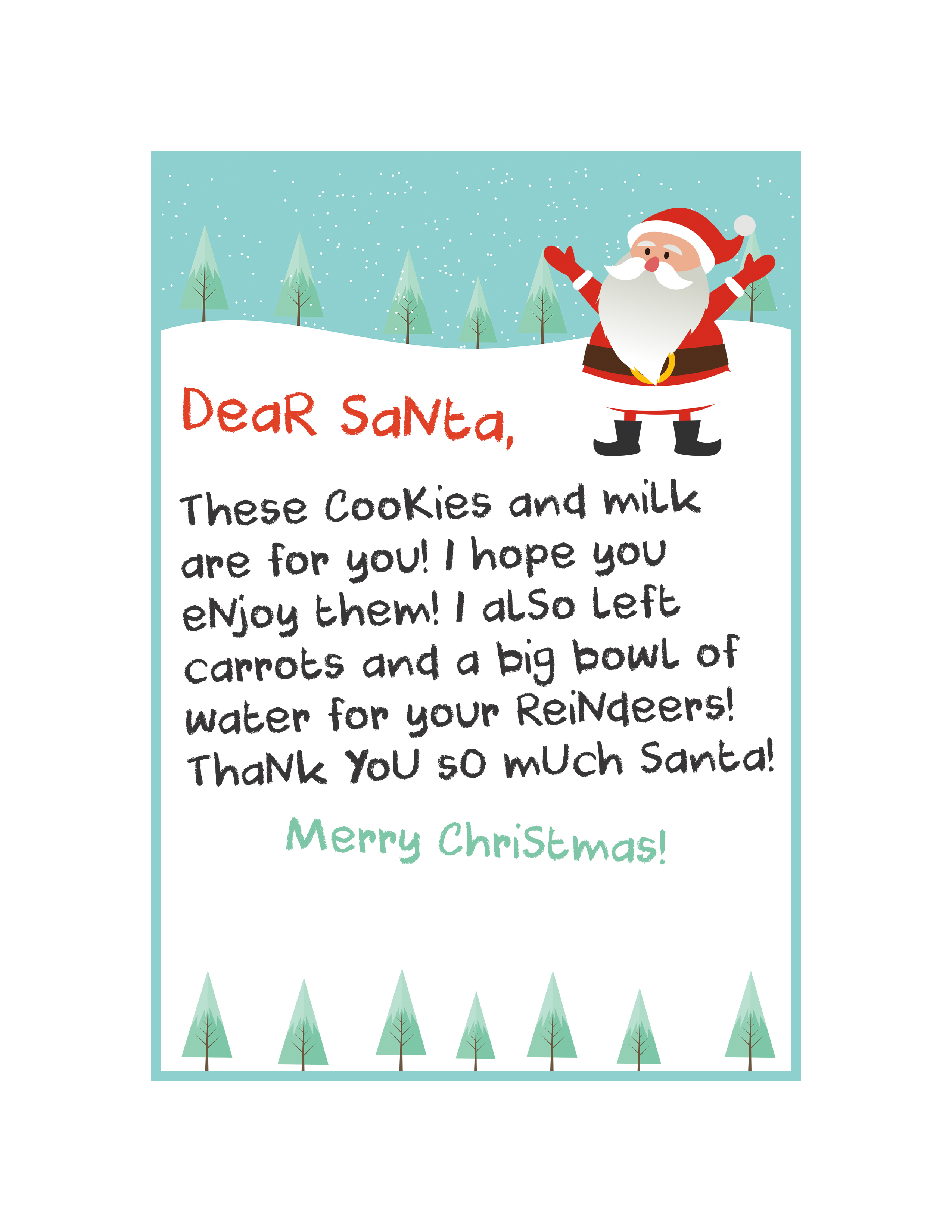 Free Printable Santa Letter Kit - The Cottage Market