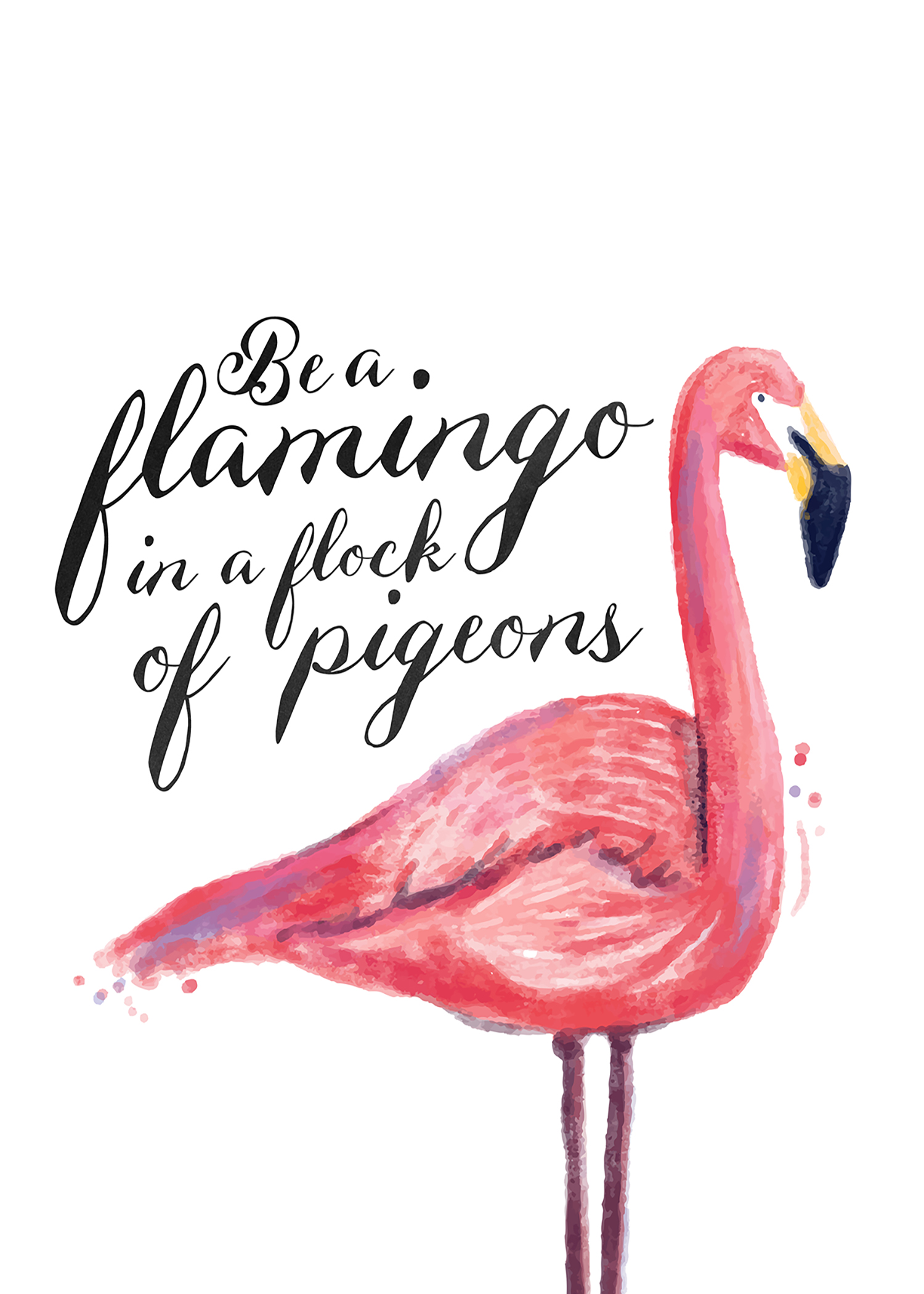 Free Printable Flamingo Print The Cottage Market