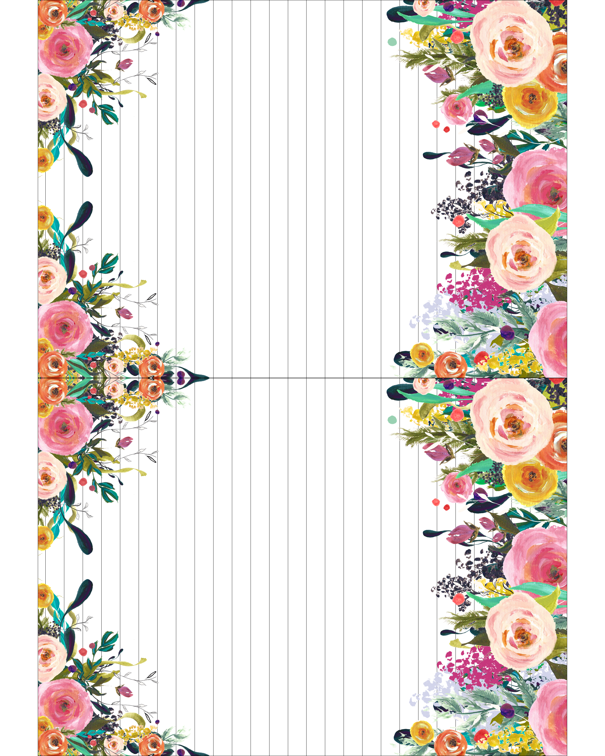 Luscious image with printable notepads