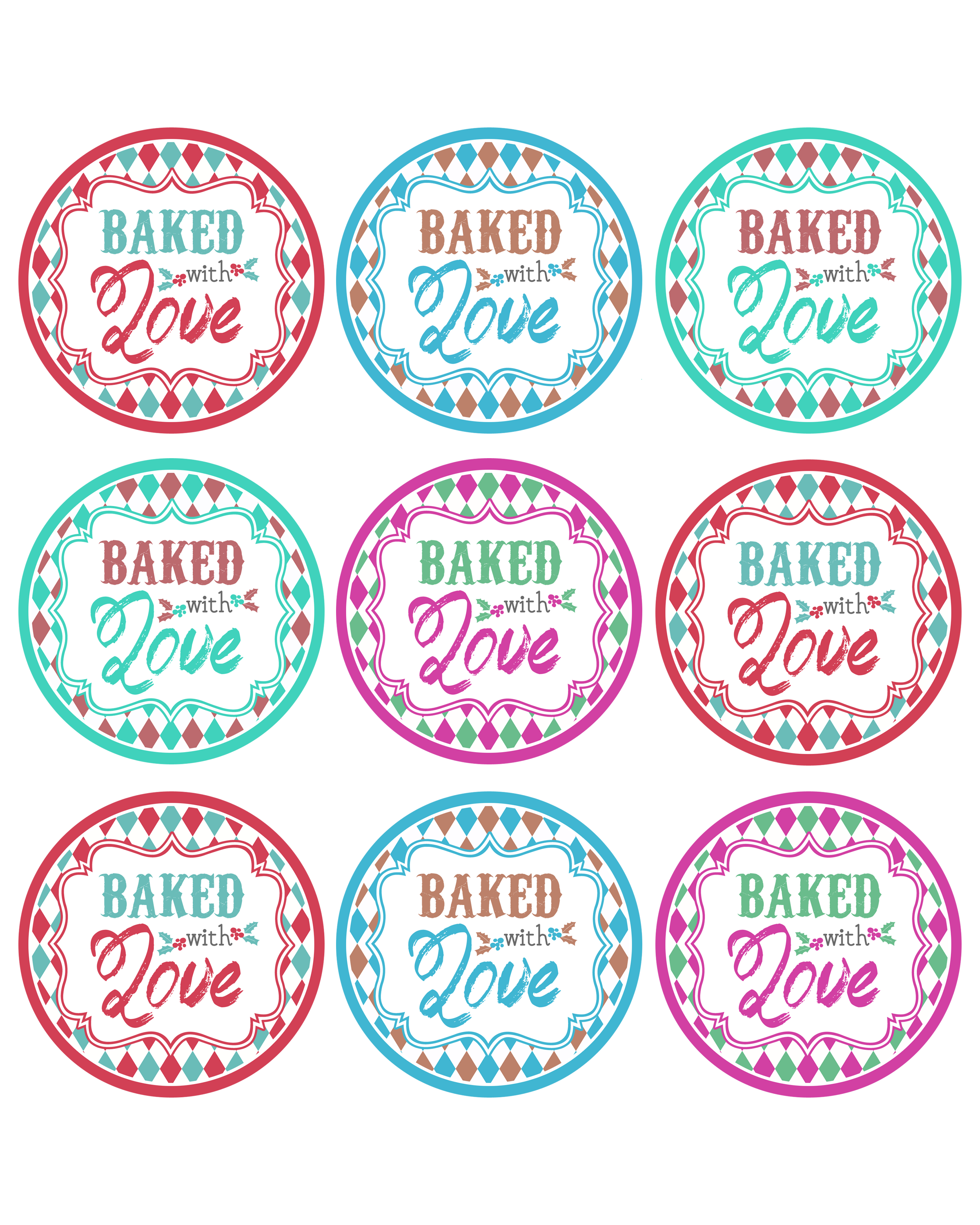 Baked with love printable tags a gift to you the cottage market the baked with love printable tags a free gift for you negle Images