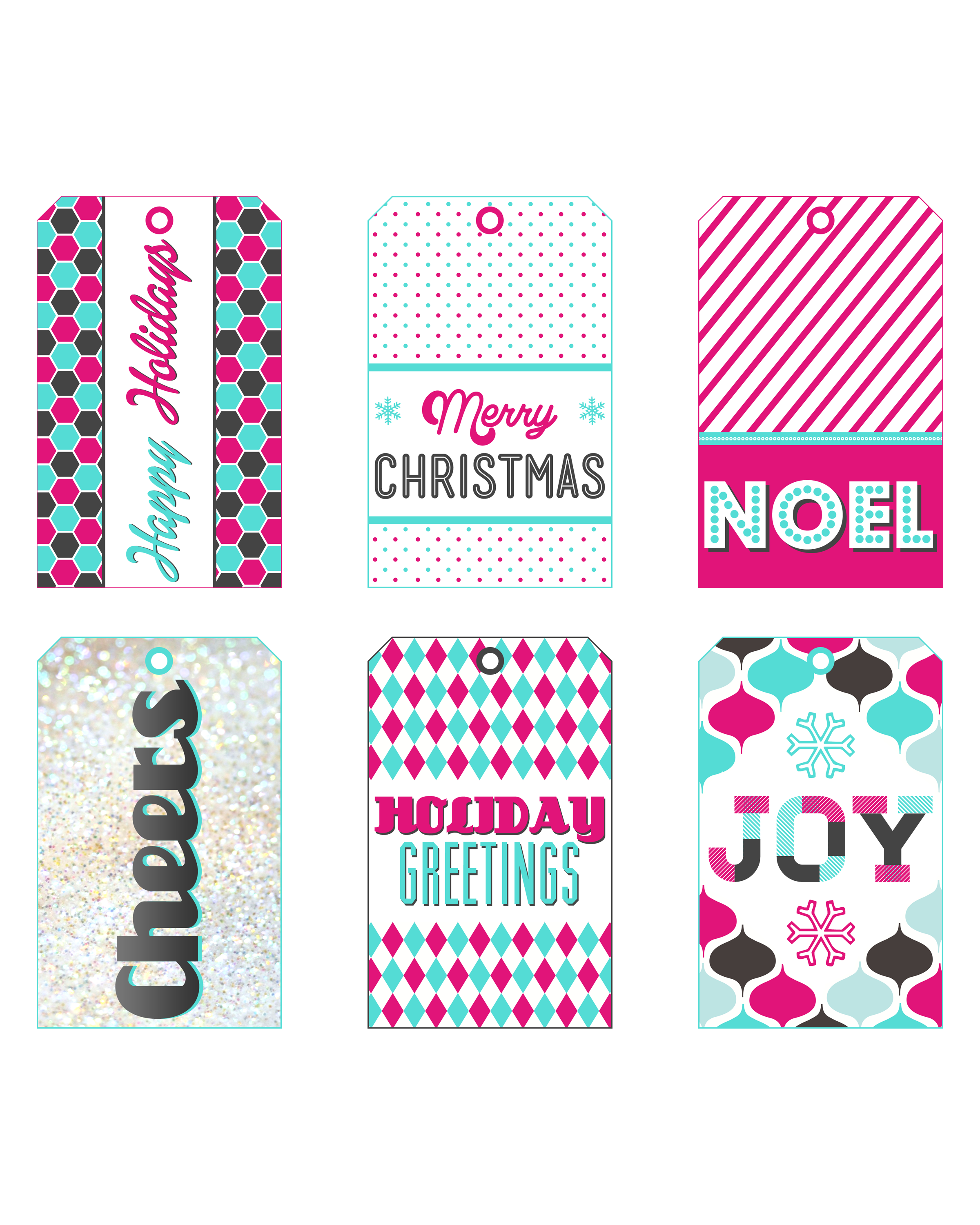 Free printable holiday gift tags with sparkle pizzaz the the christmas joy collection negle Gallery