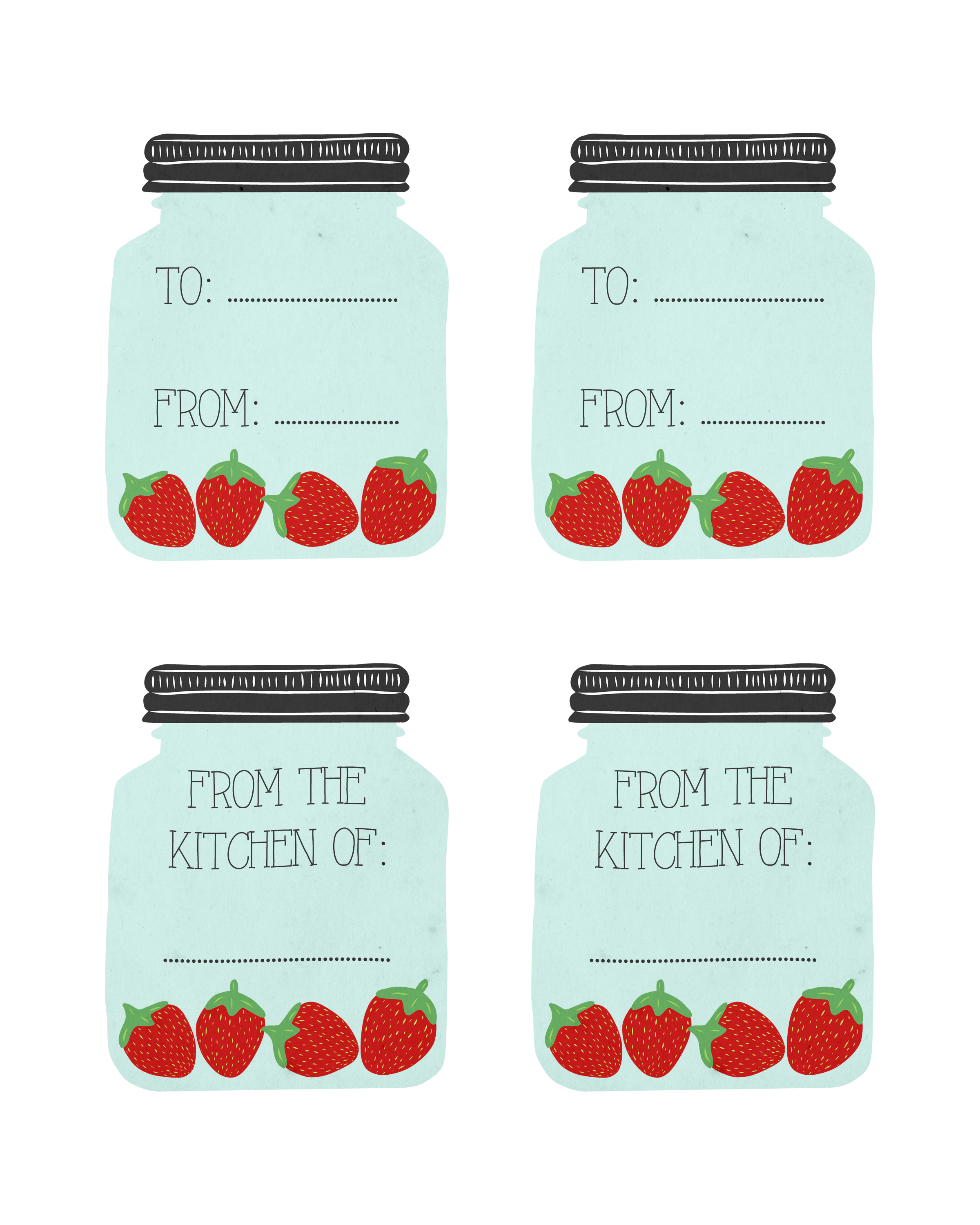 photograph relating to Free Printable Mason Jars titled Absolutely free Printable Mason Jar Recipe Playing cards and Matching Present Tags