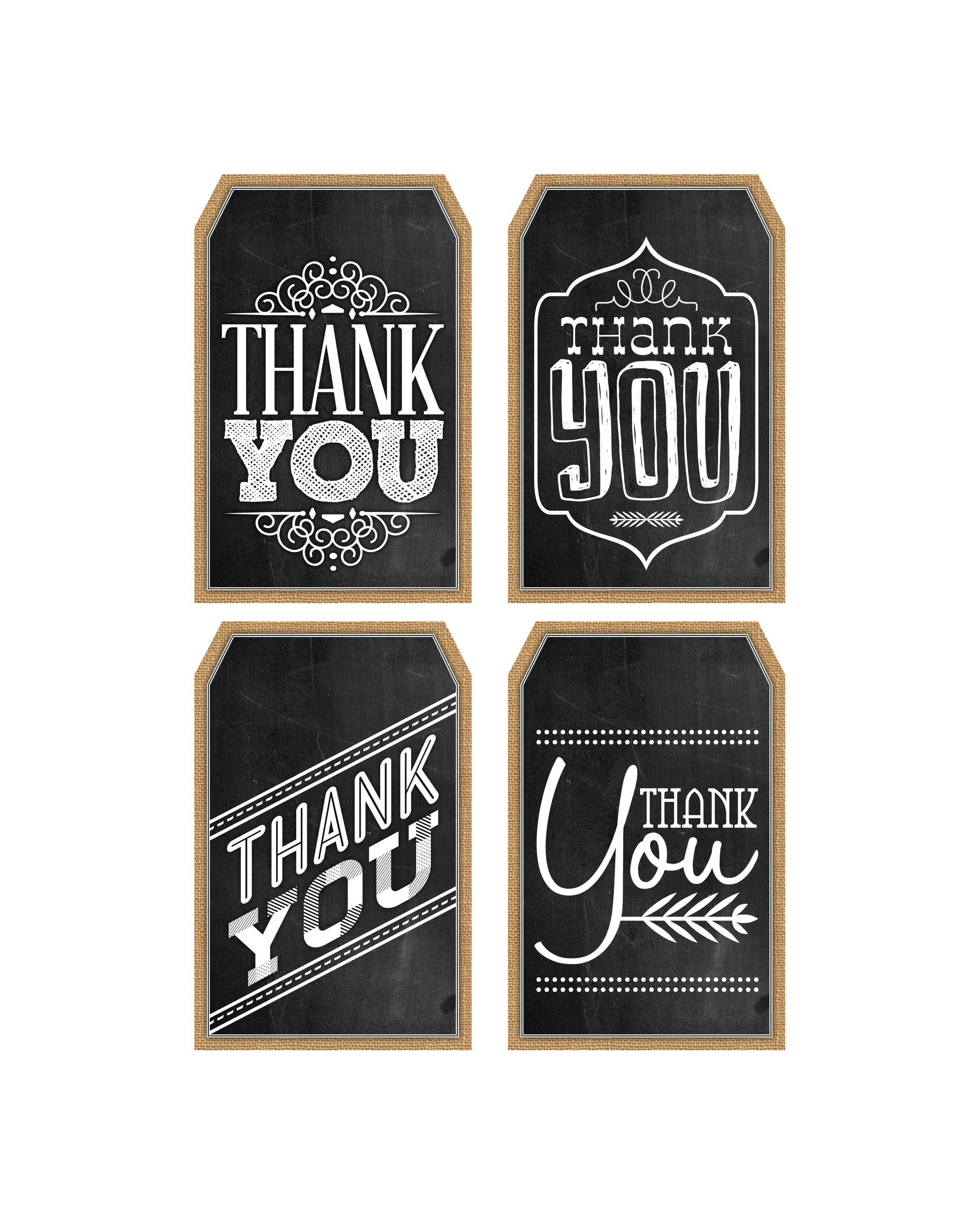 photo regarding Thank You Printable Tag called Free of charge Printable Chalkboard Thank Oneself Tags The Cottage Marketplace