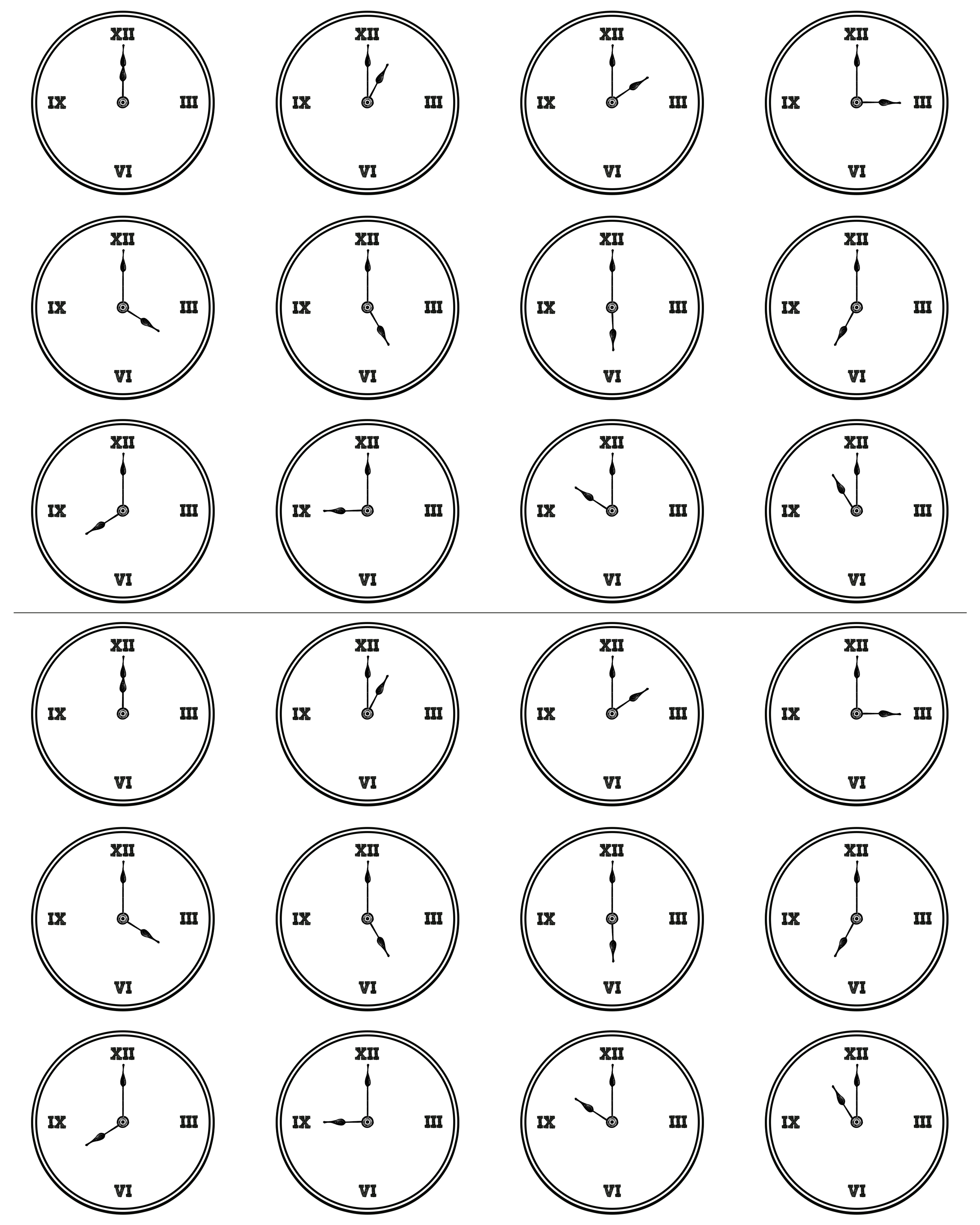 Craft clock faces - 1 5 Inch Sheet Of Clock Face Printables