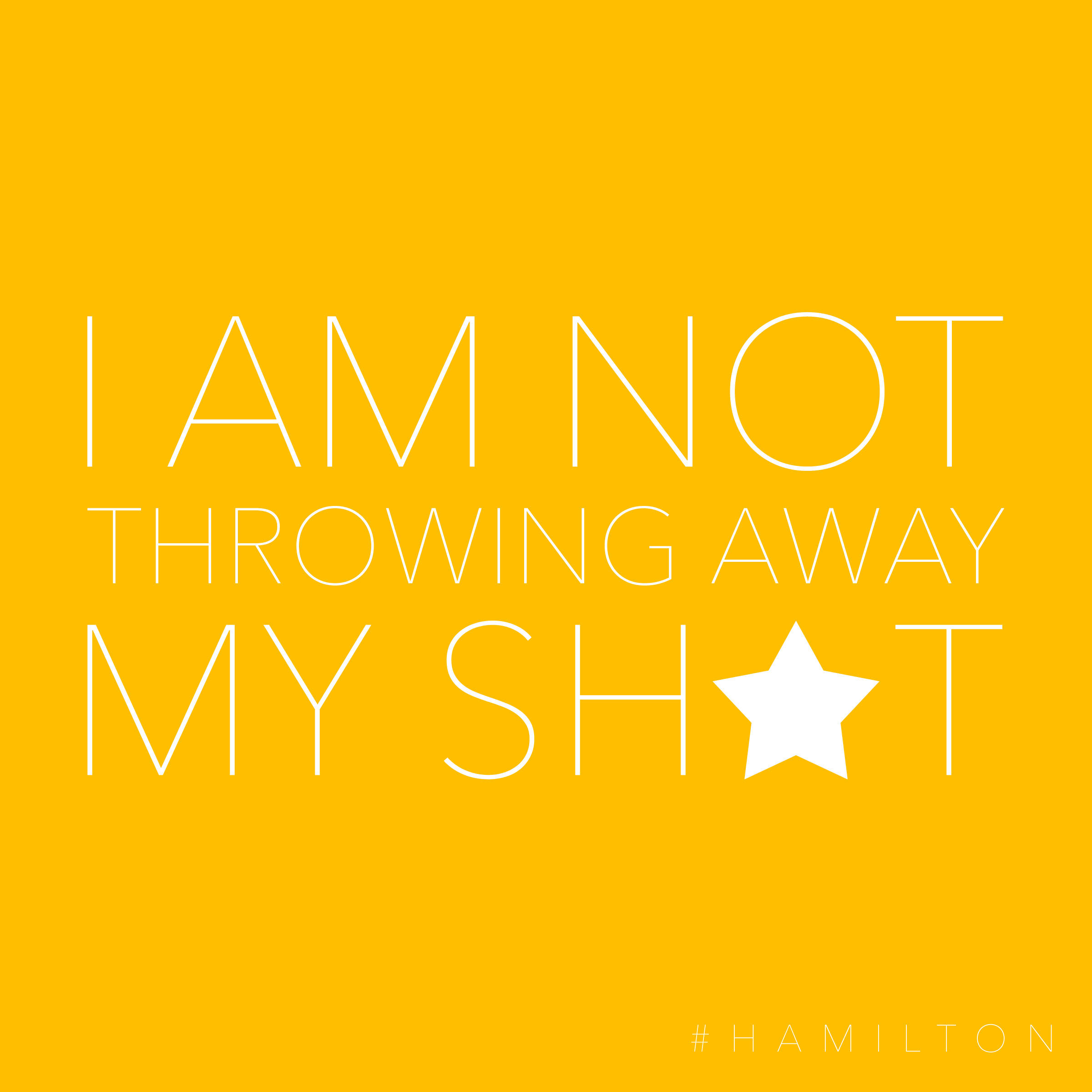 Free Hamilton Lyric Printables | The Cottage Market