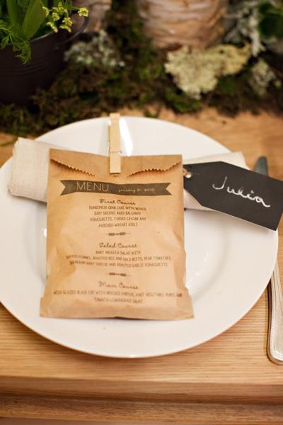 ideas para fiestas con bolsas de papel kraft