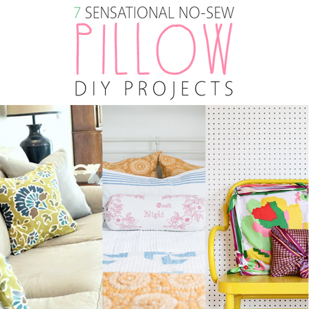 7 Sensational No-Sew Pillow DIY Projects