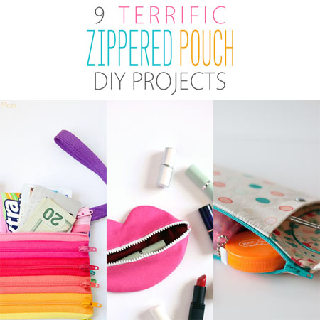 9 Terrific Zippered Pouch DIY Projects