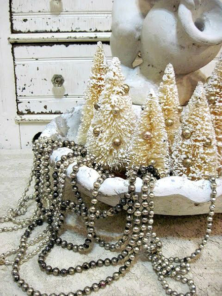 A shabby chic christmas the cottage market - Shabby chic christmas decorations to make ...