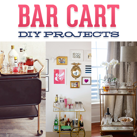 Bar cart diy projects the cottage market for Diy flea market projects
