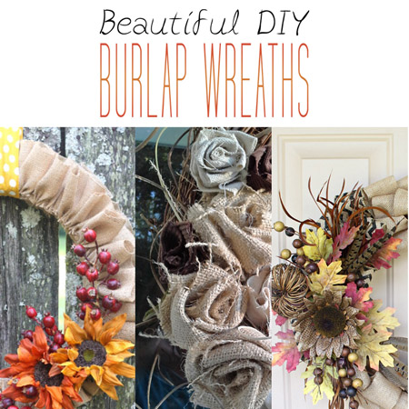 Beautiful DIY Burlap Wreaths