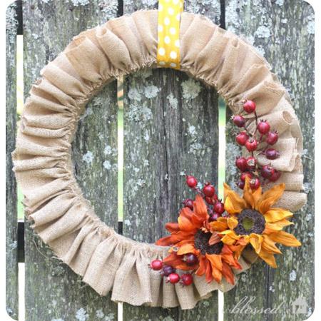 Beautiful DIY Burlap Wreaths
