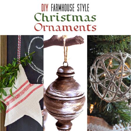 DIY Farmhouse Style Christmas Ornaments