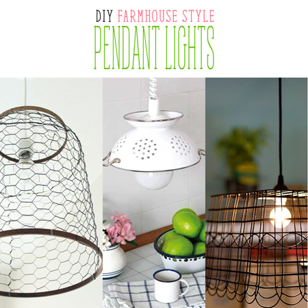 DIY Farmhouse Style Pendant Lights