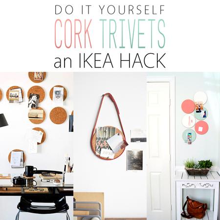 diy ikea hacks with ikea cork trivets the cottage market. Black Bedroom Furniture Sets. Home Design Ideas