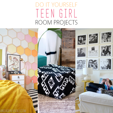 diy teen girl room projects the cottage market. Black Bedroom Furniture Sets. Home Design Ideas