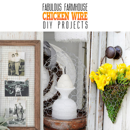 fabulous farmhouse chicken wire diy projects the cottage. Black Bedroom Furniture Sets. Home Design Ideas