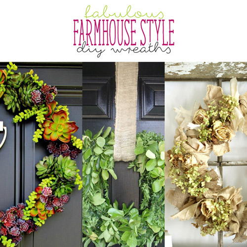 Fabulous Farmhouse Style DIY Wreaths