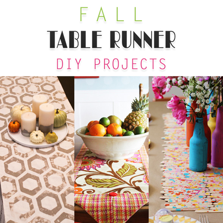 Fall Table Runner DIY Projects