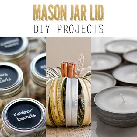 Mason Jar Lid DIY Projects