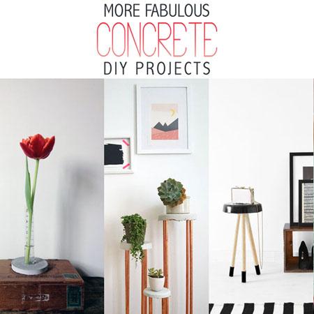 More Fabulous Concrete DIY Projects