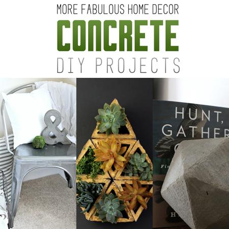 More Fabulous Home Decor Concrete DIY Projects
