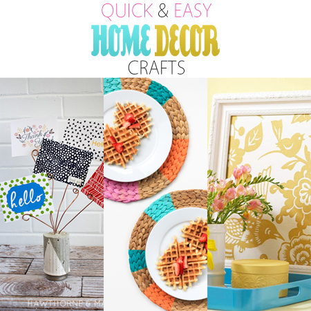 quick and easy home decor crafts   the cottage market