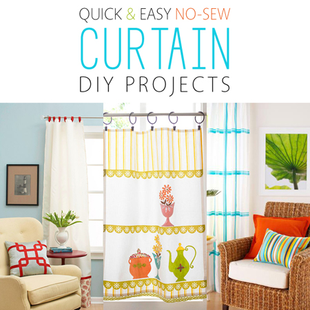 Quick and Easy No-Sew Curtain DIY Projects