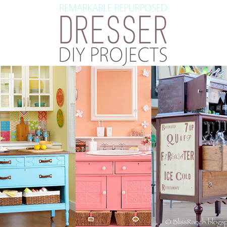 Remarkable Repurposed Dresser DIY Projects