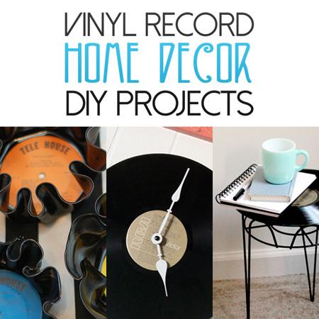 Vinyl Record Home Decor DIY Projects