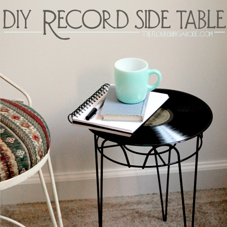 Vinyl record home decor diy projects the cottage market for Things to make with old records