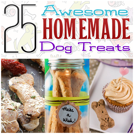 25 Awesome Homemade Dog Treats and more