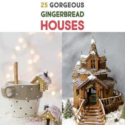 25 Gorgeous Gingerbread Houses