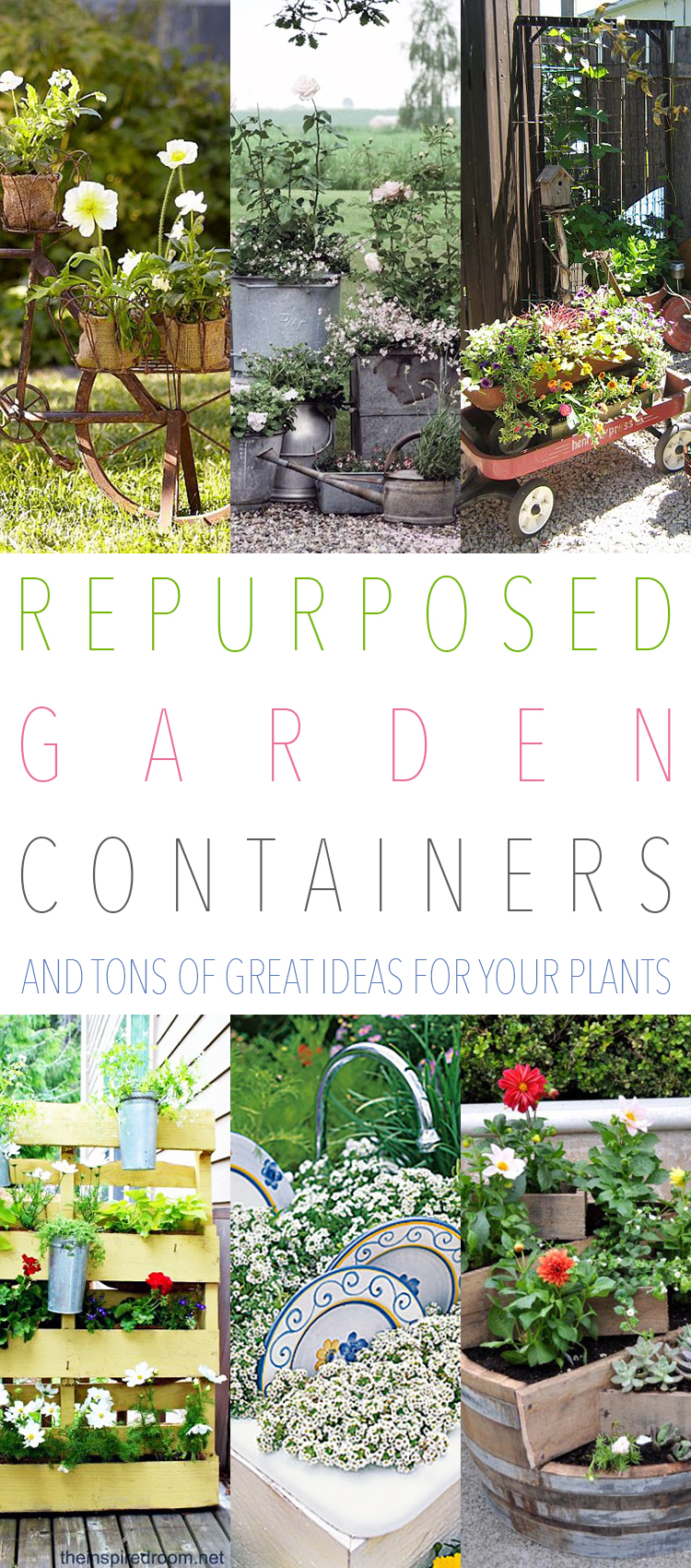 Today Itu0027s All About Repurposed Garden Containersu2026the Most Unlikely Items  Make The Best Home Sweet Home For Flowers And Plants!