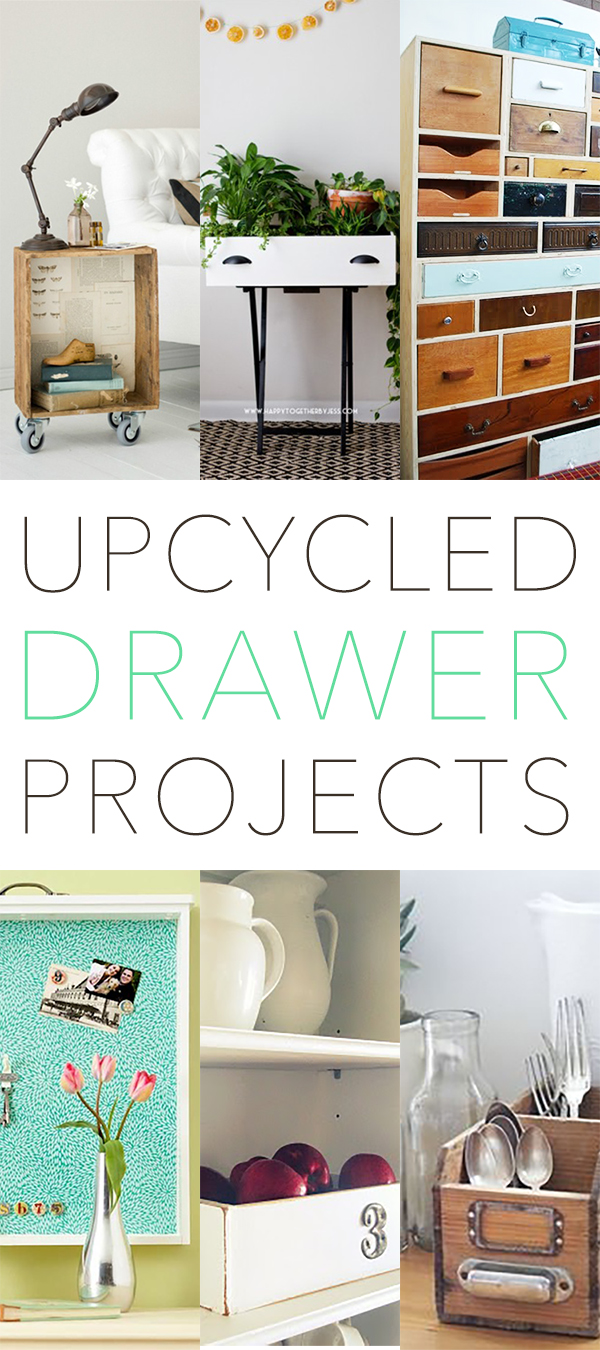 These upcycled drawer projects are fun DIY crafts for your home.