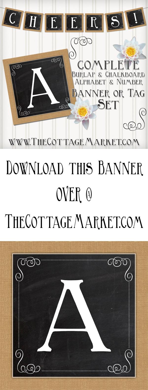 TheCottageMarket-Burlap&Chalkboard-tower
