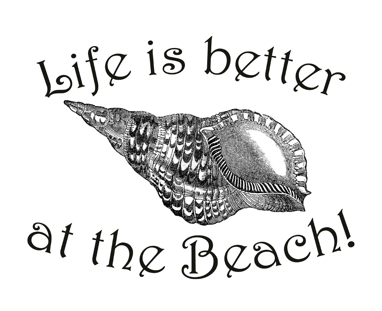 Free Graphic Life is better at the Beach - The Cottage Market