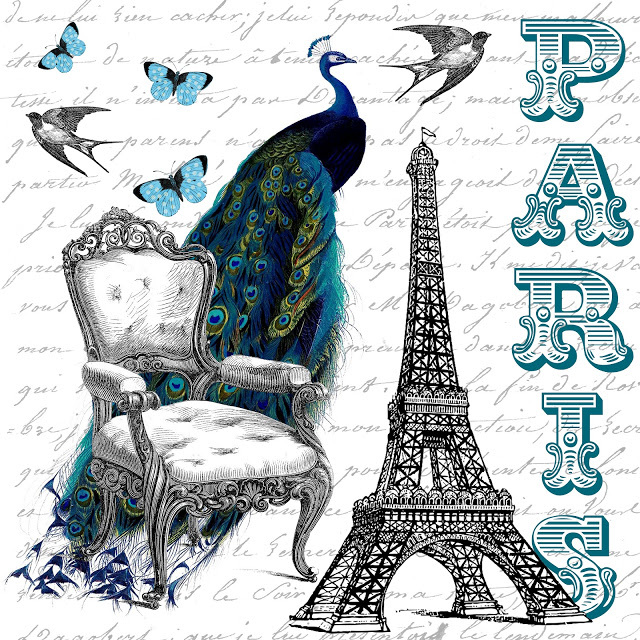 Free Printable Beautiful Paris Collage And Guest