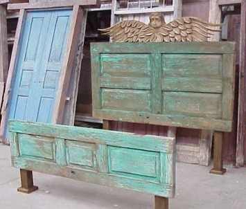 Old doors make for perfect headboard material - you'll have a super unique headboard for your bedroom
