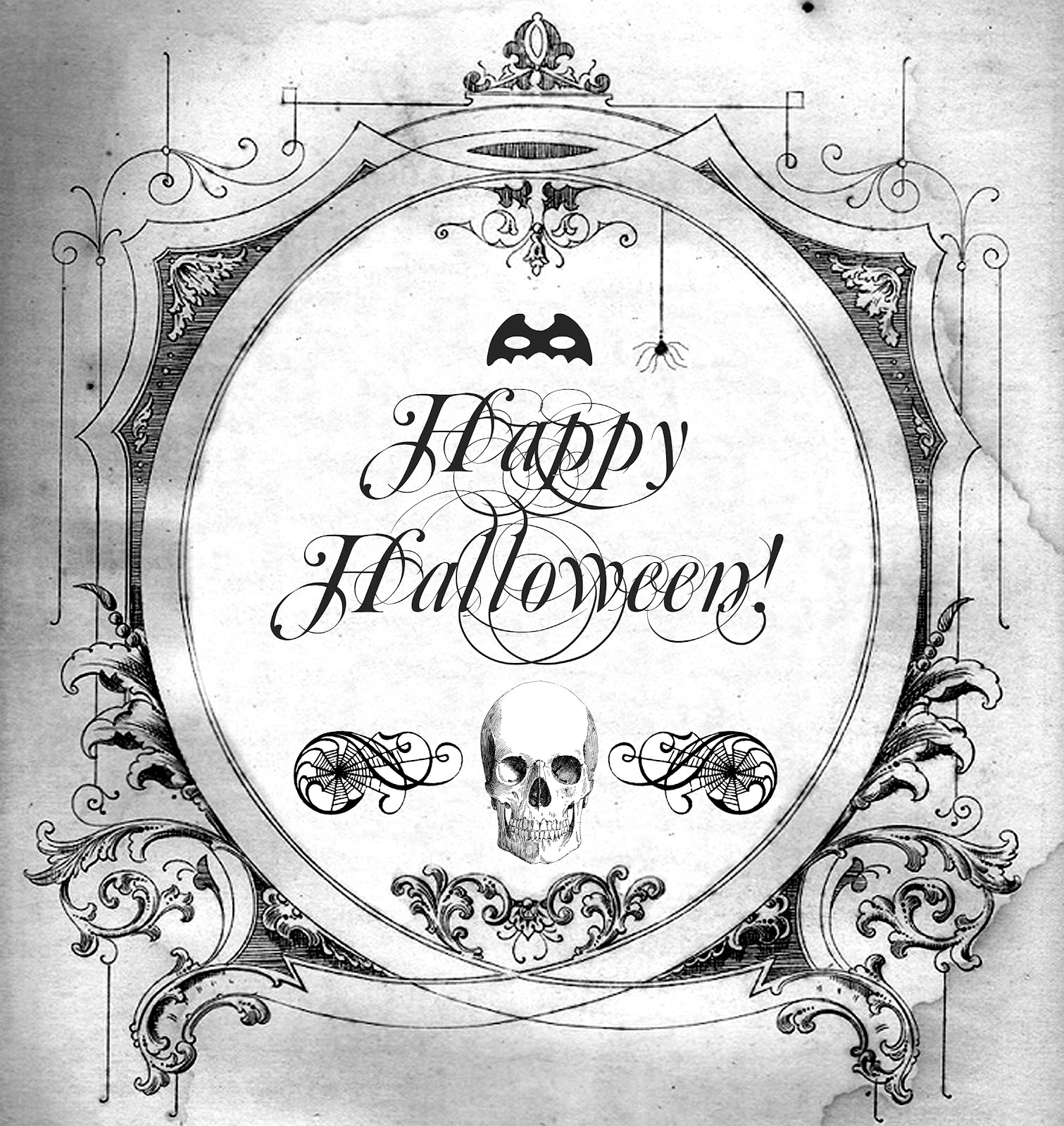 Halloween FREE PRINTABLE for transfers prints tags ...