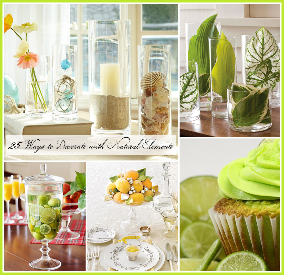 Decorating with natural elements 25 different ways the for Decoration images