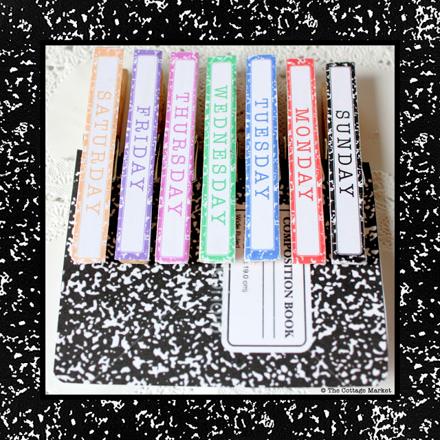 Days Of The Week Clothespin Tutorial Amp Free Print Out