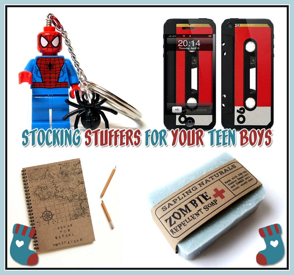 Teen boy gift ideas: Looking for a few stocking stuffer ideas for your teen guy this Christmas?Here's a long list with a few fun and quirky gifts included, too! Stocking stuffer ideas and Christmas gifts were a whole lot easier when my boys were younger.